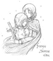 APH : FranceXJeanne d'Arc by ChocoVanillaX