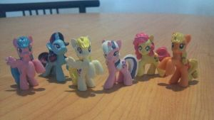 Classic Mane 6 Cutom Paint by spacepig22