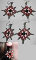 Axel Chakram Earrings by ChibiSilverWings