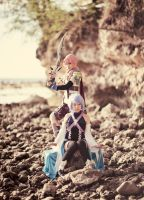Lightning and Aqua by Kpx-Beatrix