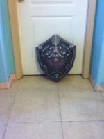 Hylian shield by skinny-artist