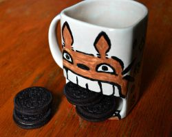Eating Totoro Cup by pbjeveryday