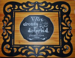 Halloween Door Sign by loveandeyeballs