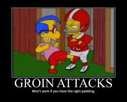 The Simpsons Groin Kick by Onikage108