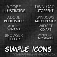 Simple Icons by vesterdesigns