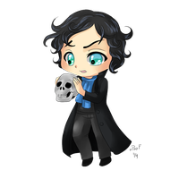 Chibi Sherlock by oPoof