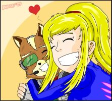 Fox Samus: Best friends evarr by Burdai