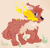 Michael the Vulpix by FruitBatFrog