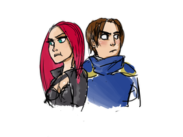 Katarina and Garen by SamuraiOctopus