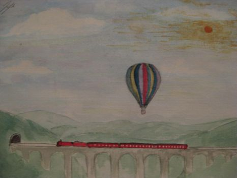 A Giant Hot Air Balloon by lilchyeah