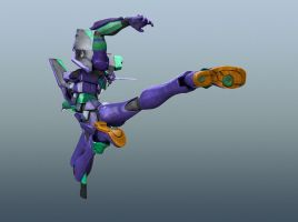 EVA 01 - Flying Kick 2 by Catetas