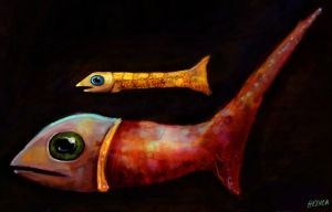 fish with open mouths by saramondo