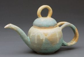 frosted tea pot by cl2007