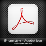 iPhone style - Acrobat icon by YaroManzarek