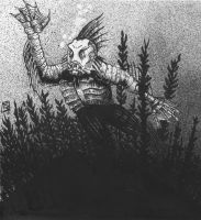 Gill Man by doctor-morbius
