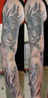 Tiger sleeve finished by SimplyTattoo