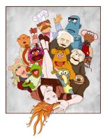 sasha and the muppets by neilakoga
