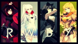 RWBY Wallpaper: Ruby, Weiss, Blake, and Yang by arrcs