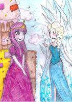 BUBBLEGUM AND ELSA CROSSOVER by NENEBUBBLEELOVER