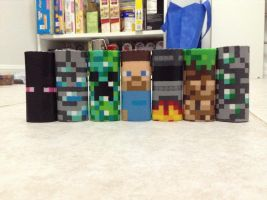 Minecraft Lighter Case Collection Expanded by Werbenjagermanjensen