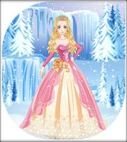 Ice Princess Wedding Dress ~ Golden by MiniatureBlueOwl