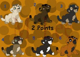 2 Point Tuesday: Lion Cubs Set 6 (Closed) by MLee-Adoptables