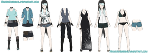 Hika's outfits by xXRyushi