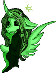 Green Moon  Pony by Elf-from-a-lake
