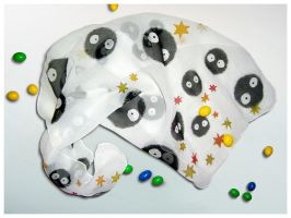 Silk Scarf 'Totoro Soot Sprites' - FOR SALE! by MinkuLul