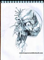 2011 Sketchbook Skull 7 pt1 by Penerari