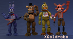 Fnaf 2 Un-withered Animatronics by XGoldrobo