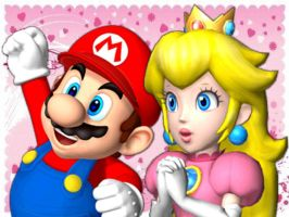 Mario Party 9 - Mario and Peach. by GabyMarioFangirl