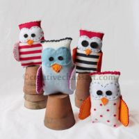 Sock Owls by bicyclegasoline