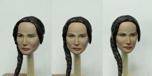1/6 Katniss (Jennifer Lawrance) Head Sculpt by stanley-sculptoyz