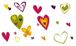 Hearts and Butterflies by CartoonStock