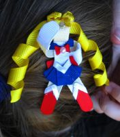 Sailor Moon Ribbon Sculpture Hair Bow by Rule404