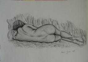 nude woman reclining by carriephlyons