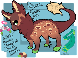 Rhyan the fuzzylizard ref. by Flipgang