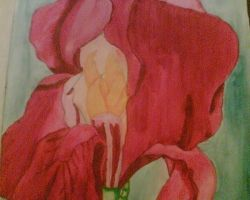 Second Flower Painting by AmyLou31