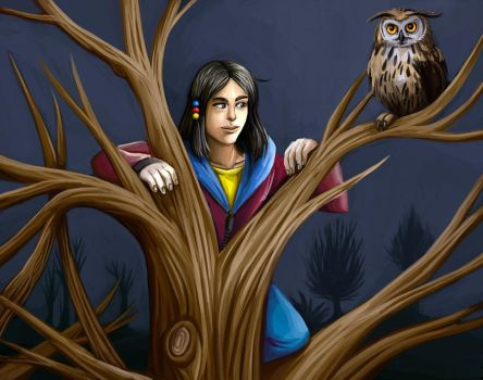 Neus and owl by sushy00
