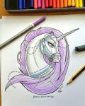 Tattoo Design: Lady Unicorn by Almairis