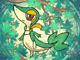 Snivy by CaitlinTheLucario