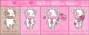 Lulu the Pink YAP Cow by SqueakyToybox