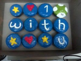 1up cupcake. by Human-Canvas