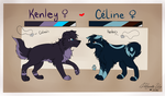 Kenley and Celine Ref Sheet 2014 by MaeMusicMelody