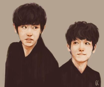baekyeol by genicecream