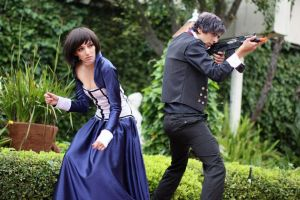 Booker and Elizabeth action shot by Kris Zoleta by moonxfarron