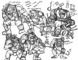 Ork Character Sketches by Taytonclait