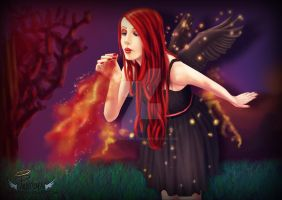 Dark Fire Angel by Pandora-Creations