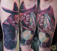 boda wedding dia de los muertos step 1 by 2Face-Tattoo